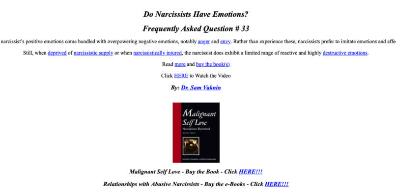 Are you in a relationship with a narcissist?