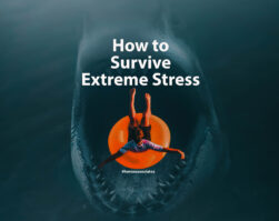 calgary counselling services article title image of shark swallowing person on orange inflatable float