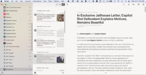 reeder screen capture RSS feed